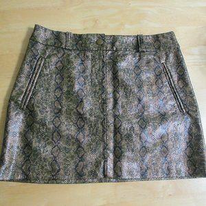 Snake-print mock leather miniskirt by H&M